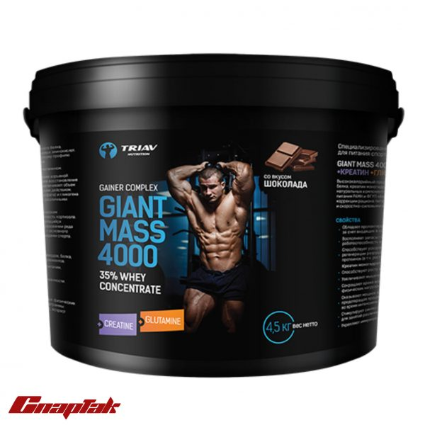 Giant MASS 4000 35 сывороточный creatine glutamine